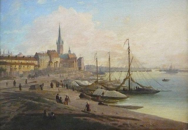 Неизвестный художник. Вид Дюссельдорфа, <i>1840</i>
