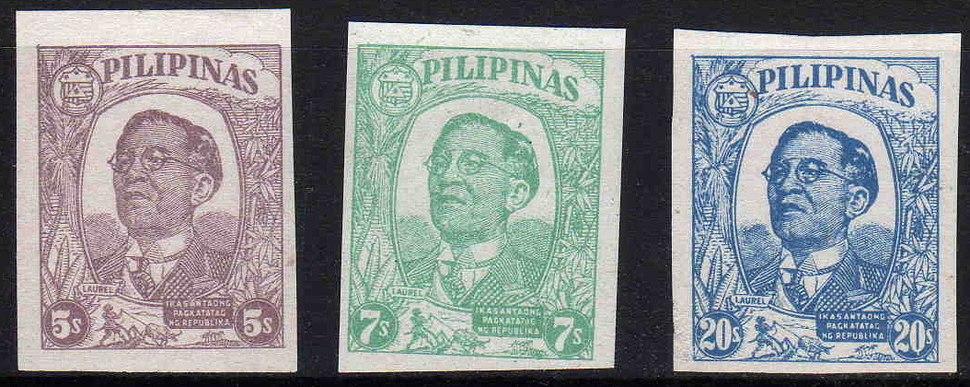Stamp of José P. Laurel in 1945