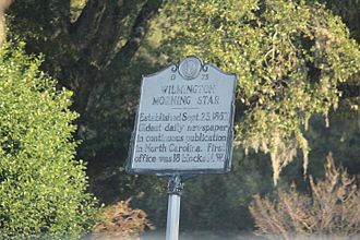 Star-News - Historic sign marker for the Wilmington Morning Star