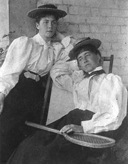 StateLibQld 1 42023 Two women dressed for a game of tennis, 1890-1900.jpg