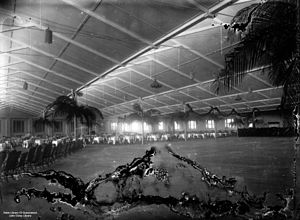 StateLibQld 1 81935 Woolstore converted into a ballroom for the Vice-regal ball held in honour of the visiting Duke and Duchess of York, New Farm, Brisbane, 1927.jpg