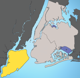 Localisation de Staten Island (Richmond County)