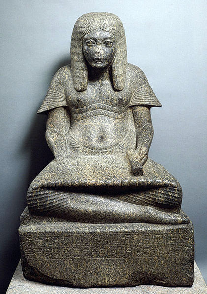 Archivo:Statue, Horemheb in Scribal Pose (MMA 23.10.1).jpg
