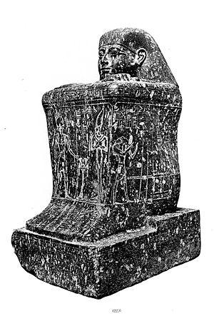 Shoshenq VI - Statue CG 42226 of Hor IX, who died under Shoshenq VI's reign