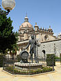 Statue of Manuel María González With a Barrel of Tio Pepe, By Catedral de San Salvador, in Jerez de la Frontera, Spain.jpg