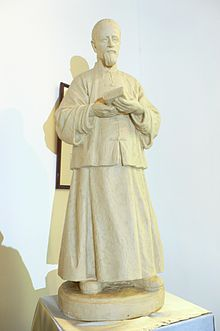 Statue of St Joseph Freinademetz in St Joseph Chapel of Yim Tin Tsai.JPG