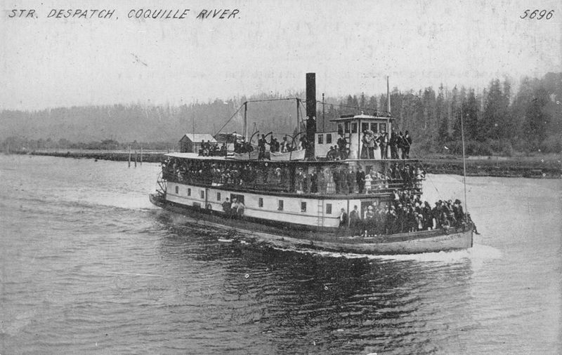 Photo Crowded Steamboat  in 1910 on Coquille River