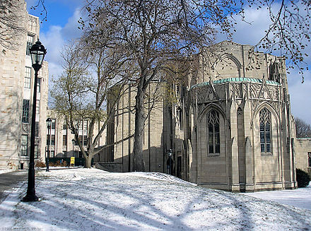 Pitt's Stephen Foster Memorial contains two theaters. StephenFosterWinter.jpg