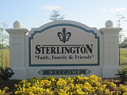 Sterlington, LA, welcome sign IMG 2838.JPG