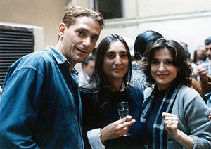 Lina Sastri - Lina Sastri (r) on the set of Celluloide, Rome Italy 1996