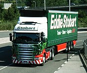 Eddie Stobart lorry. The Stobart Group are the main sponsors for the Vikingss in 2010.