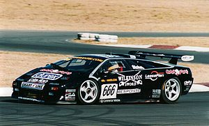 Australian Nations Cup Championship - Paul Stokell won the 2003 and 2004 titles driving a Lamborghini Diablo GTR (pictured above in 2001 in a Lamborghini Diablo SVR)