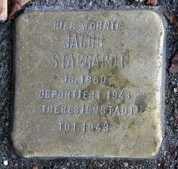 Photo of Jacob Stargardt brass plaque
