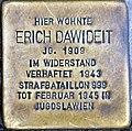 Stolperstein Brunnenstr 118 (Gesbr) Erich Dawideit.jpg