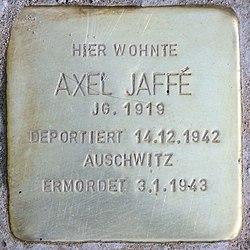 Photo of Axel Jaffé brass plaque