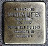 Stolperstein Grünberger Str 43 (Friedh) Martha Litten.jpg