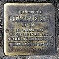 Stolperstein Heinz-Galinski-Str 8 (Gesbr) Hermann Korus.jpg