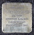 Stolperstein Klausenerplatz 2 (Charl) Richard Simson.jpg
