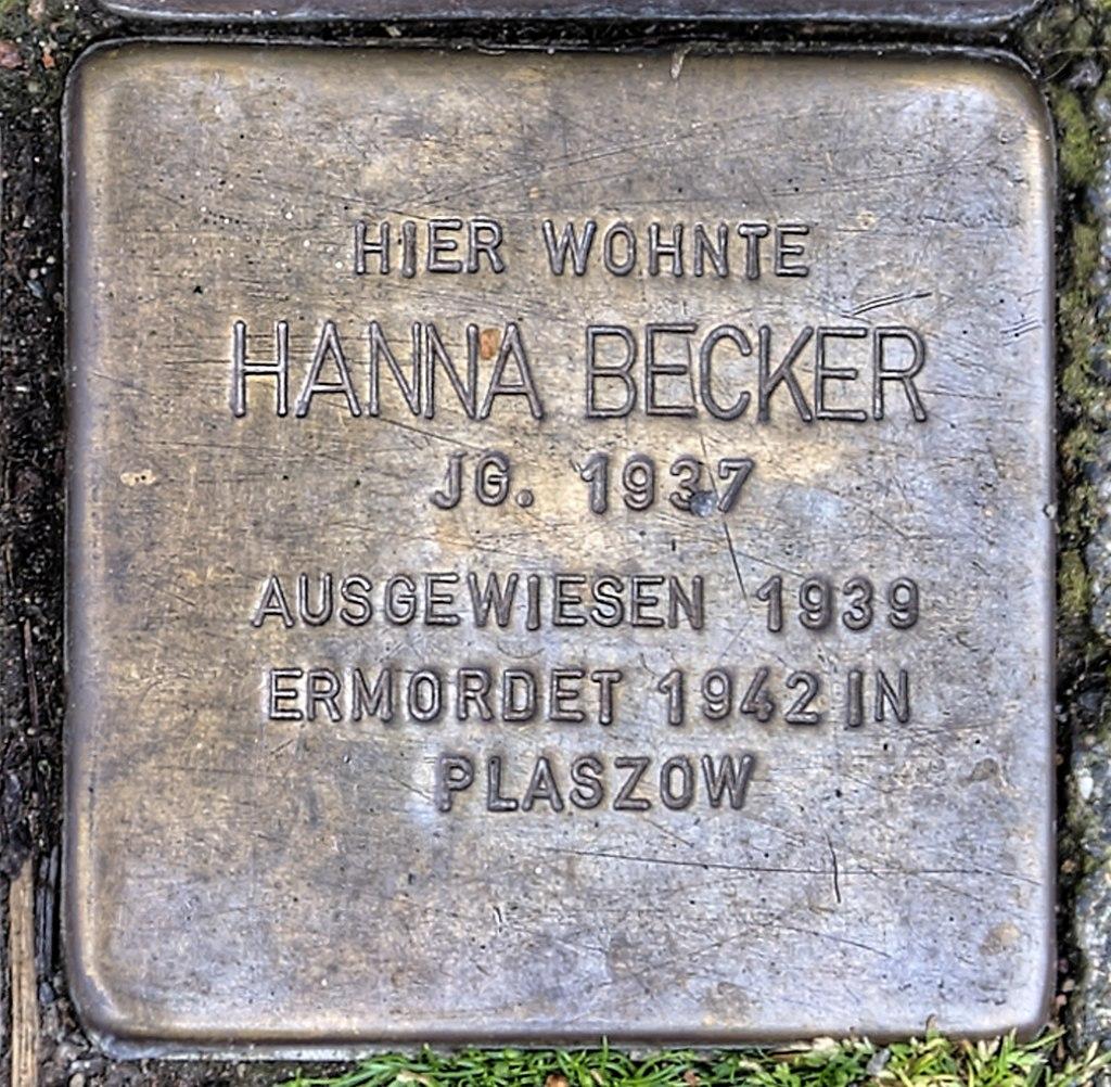 Stolperstein Remscheid Brüderstraße 3 Hanna Becker.jpg