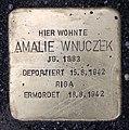 Stolperstein Rheinsteinstr 9 (Karlh) Amalie Wnuczek.jpg