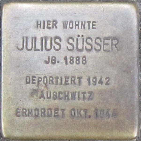 File:Stolperstein Würzburg Süsser Julius.jpeg