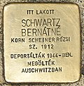 Stolperstein für Bernatne Schwartz (Miskolc).jpg