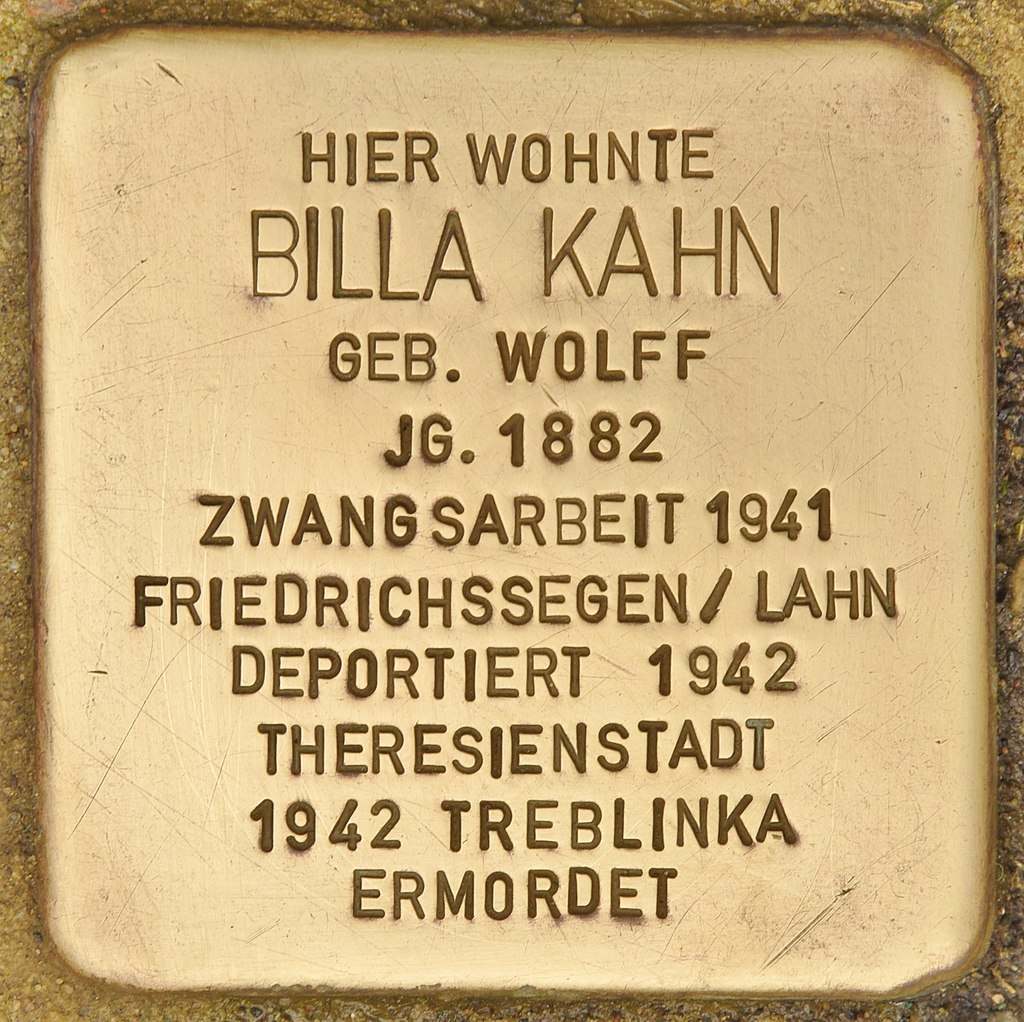 Stolperstein für Billa Kahn (Montabaur).jpg
