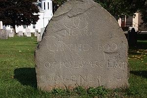 Pioneer Cemetery (Sidney, New York) - Image: Stone in Pioneer Cemetery