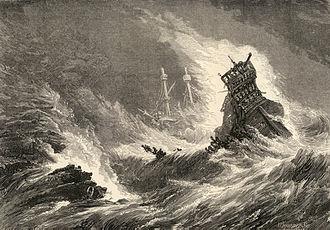 3rd Spanish Armada - Spanish ships in a storm