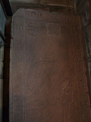 Temple Neuf - Ledger stone of Johannes Tauler