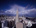 Street-level view of San Francisco, California, with a focus on the 1972 Transamerica Pyramid, the city's tallest building LCCN2011635278.tif
