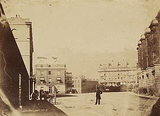 Dover - A very early photograph showing a Dover street scene, c. 1860
