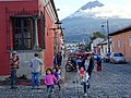 Street Scene with Volcano Backdrop - Antigua Guatemala - Sacatepequez - Guatemala (15919335575).jpg