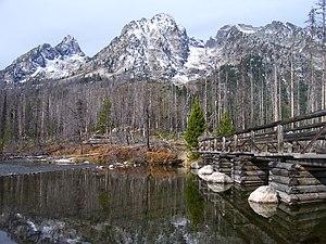 String Lake - Footbridge across String Lake