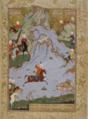 Sultan Muhammad - Bahram Gur lion hunting.png
