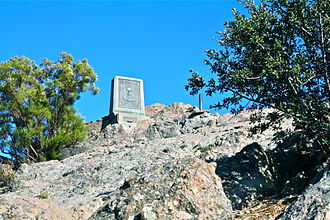 Sandstone Peak - The summit of Sandstone Peak features a plaque and guestbook