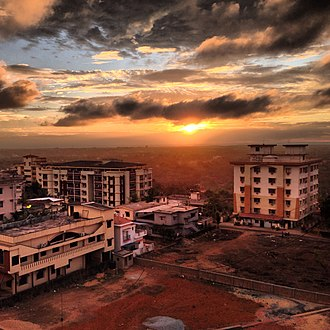 Manipal - Sunset, as seen from the outskirts of Manipal