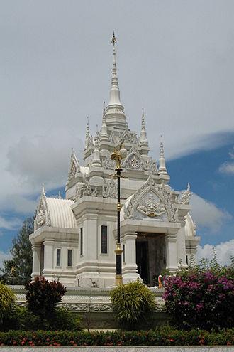 Surat Thani - City pillar shrine in Surat Thani.