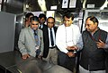Suresh Prabhakar Prabhu inspecting a model rake (a passenger carrying train with 24 coaches) with improved interiors, colour scheme, aesthetics and amenity fittings, in New Delhi on January 11, 2016 (1).jpg