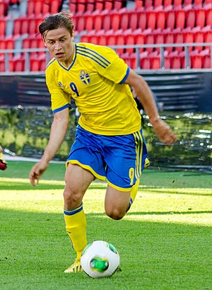 Simon Thern - Thern playing for Sweden U21 in 2013
