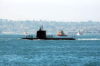 Gotland-class submarine - Image: Swedish attack submarine HMS Gotland