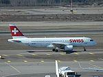 Swiss International Air Lines aircraft Helsinki-Vantaa-International-Airport 2016.jpg