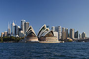The Central Business District of Sydney, Australia.