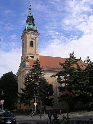Church of St. Nicholas, Szeged - Image: Szent Miklós szerb ortodox templom (Szeged)
