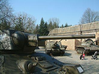 F-34 tank gun - Side view