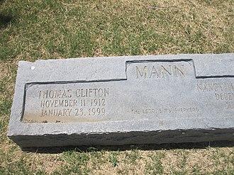 Thomas C. Mann - Thomas C. Mann grave marker at Laredo City Cemetery