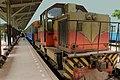 THAI RAILWAYS KRUPPS LOCO HAULED TRAIN CARRIDGES BEING SHUNTED FOR POSITION FROM BANGKOK THONBURI STATION TO KANNCHANABURI RIVER KWAI THAILAND JAN 2013 (9365276070).jpg