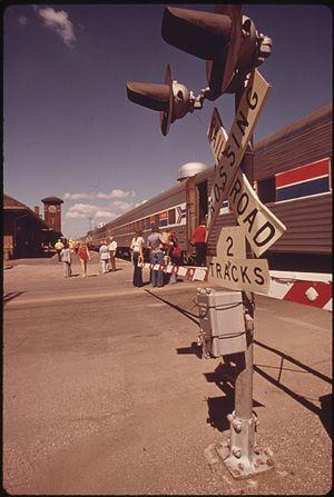 Fargo station - 1974 Amtrak train in Fargo