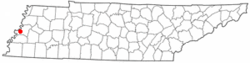 Location of Fulton in Tennessee