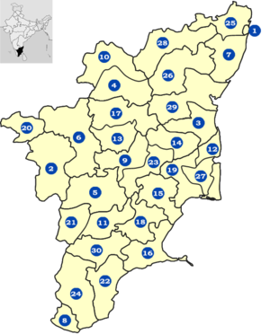 Districts of Tamil Nadu